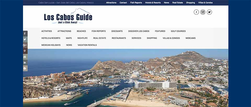 Los Cabos Guide 2019 website banner
